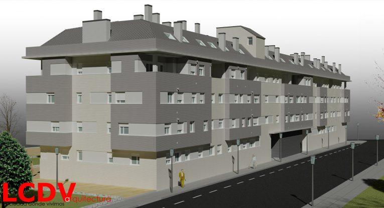 Proyecto de bloque de viviendas en Ibi