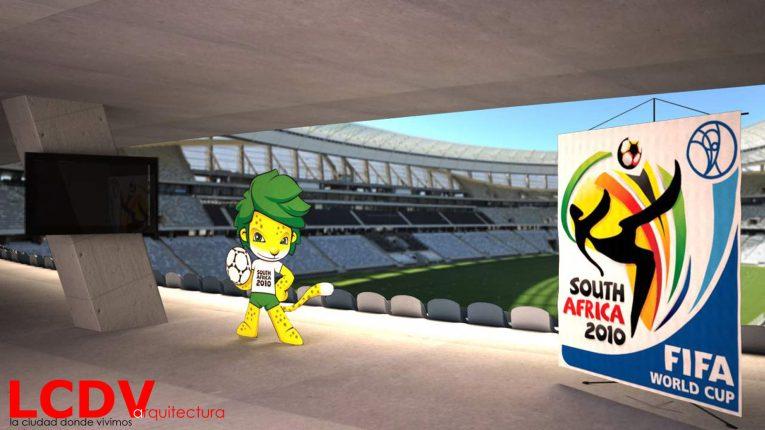 Montaje para el Mundial de fútbol de Sudáfrica 2010 para www.apuestasdeportivas.com
