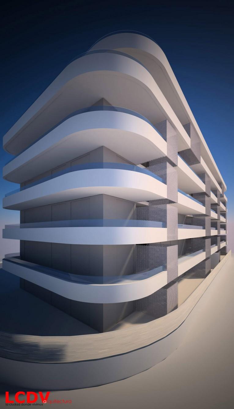 Anteproyecto para bloque de viviendas en Elche