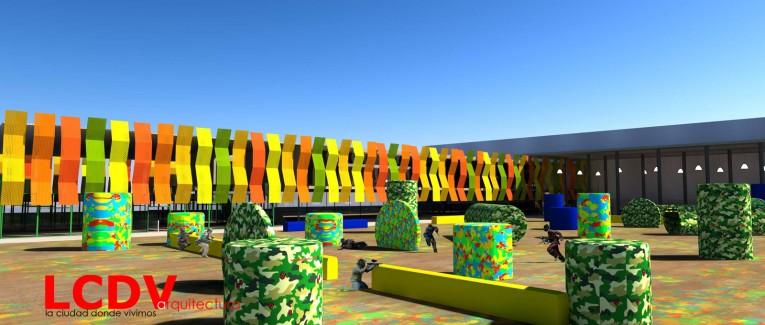 Montaje para proyecto de centro comercial en Elche